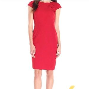 Adrianna Papell   Red   Sheath Dress  Size 6